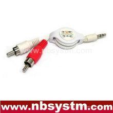 Cable flexible de 3,5 a 2xRCA