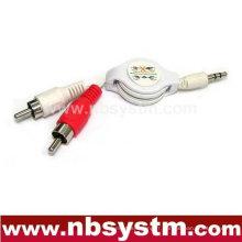 Câble flexible de 3,5 à 2xRCA