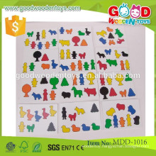 hot sale kids wooden practical ability toy high quality happy artisan-hammer farm set practical ability toy MDD-1016