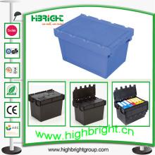 Envase logístico plástico, contenedor encajable, caja encajable