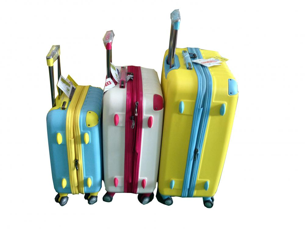 ABS Luggage Set Airplane Wheels
