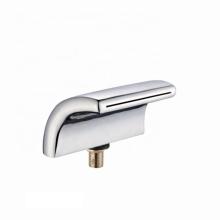 Hot Sale  waterfall Spout hot cold mixer freestanding bathtub faucet