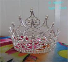 Vente en gros de perles de mode grand concours de tiare pleine haute royale couronnes photos
