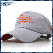 custome 5panel baseball cap and logos made in china