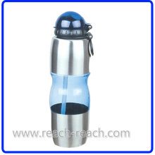 Travel Sports Plastic Water Bottle with Straw (R-1134)