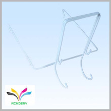 Best seller white metal wire j shape hanging hook for supermarket display