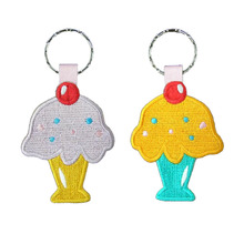 Ice Cream Key Chain Inclusief Round Hole and Metal Ring