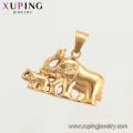 34203 XUPING colgante de elefante animal elefante plateado oro neutral