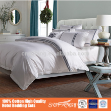 Nantong Sufang Factory Direct Price 5 Star Hotel Bedding Linen Sets 100% Cotton,Include Bed Sheet,Duvet Cover,Pillow Case