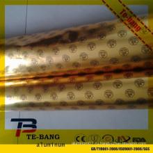 Чжэнчжоу горячей продажи алюминиевой фольги шоколад оберточной бумаги для сливочного обертывания