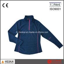 Outdoor-Sweatshirts 1/4 Reißverschluss Frauen Fleece Jacke