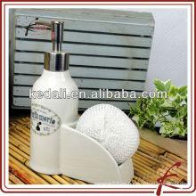Dispensadores de loción de cerámica con soporte esponja