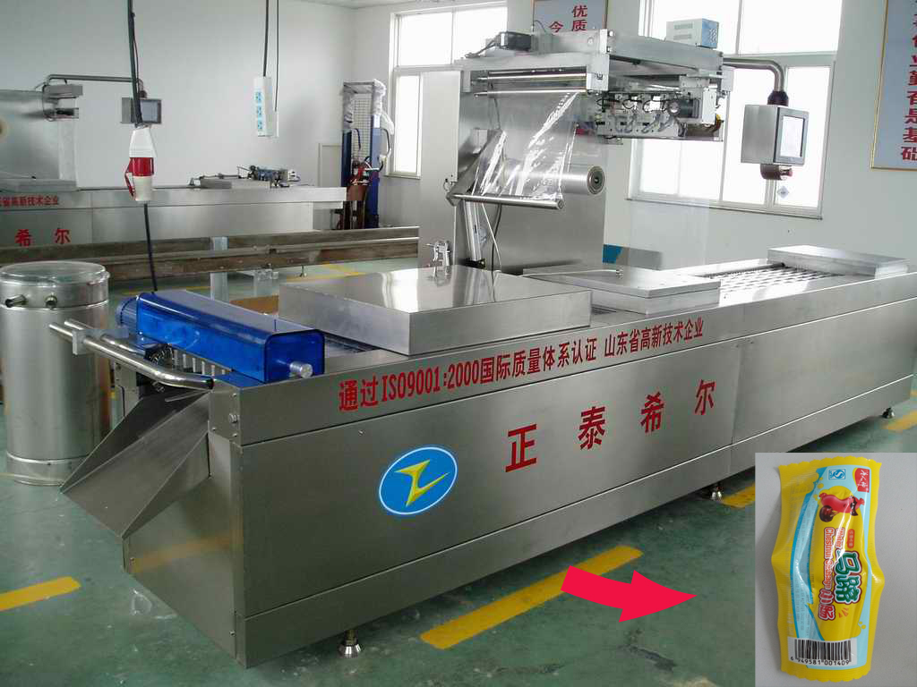 Top class automatic thermoforming air exhaust sausage vacuum packing machine