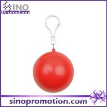 Chubasquero desechable de plástico transparente Kids Poncho en la bola