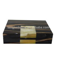 Ox Horn et boîte à bijoux en bois pour cadeau de luxe