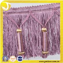 Женские платья Текстиль Ткань Костюм Сексуальная фиолетовая вышитая бисером кисточка
