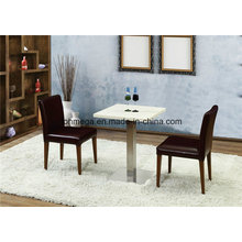 Fast Food Restaurant White Artificial Dining Table and Chair (FOH-BCA87)