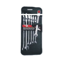 Metric 7PC Flex-Head Geared Ratcheting Wrench Set
