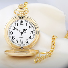 Quartz Movement Pocket Watch with Hanging Chain