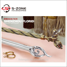 metal window curtain rods plated double rods
