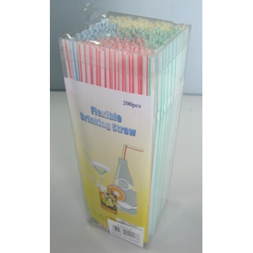 200pcs plastic straws set