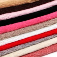 Tissus en tricot en peluche artificiel à haute imitation
