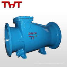 válvula de retención de brida de tubería de agua de bloqueo lento de microresistencia