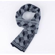 Men Fashion Wool Nylon Acrylic Woven Winter Warm Scarf (YKY4603)