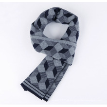 Homens moda lã nylon acrílico tecido inverno cachecol quente (yky4660)