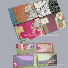 Porte-notes Porte-cartes tri-fold avec enveloppes