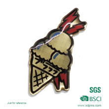 Brass Metal Icecream Pin Badge for Promotion (MB-035)