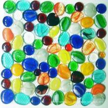 Pepitas de cristal decorativas, mosaico de guijarros de vidrio
