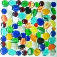 Nuggets décoratifs en verre, mosaïque de galets de verre
