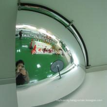Quarter dome corner mirror in convex glass mirror