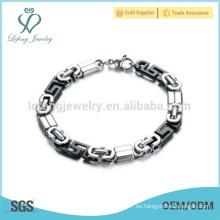 Pulsera de cadena de alta calidad, pulsera de acero inoxidable, pulsera impermeable