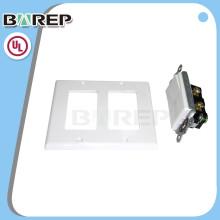 YGC-009 BAREP américain ménage en plastique led interrupteur plaque murale