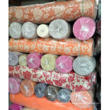 2014 полиэстер жаккардовые диван ткань шенилл на складе