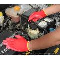 Хлопок и спандекс работы перчатку с Сэнди нитриловые погружения (№1585)