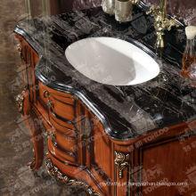 Armários de madeira da mobília do banheiro do banheiro de madeira clássico
