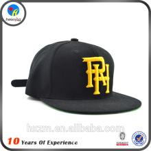 Custom letter embroidery snapback cap