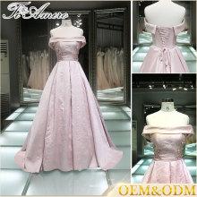 2017 rosa fora do ombro estilo moda antiga vestido uma linha vestido de bola