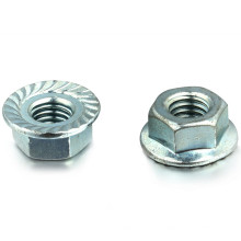 Hex Flange Nut DIN 6923 with Zinc-Plated