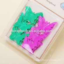 glitter butterfly metal charms for promotion