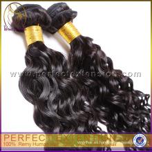 ondas rizadas teje, clips de extensiones de cabello rizado humano