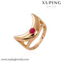11143 xuping mode doigt 18k or désherbage anneaux avec de la pierre