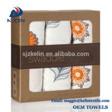 """Couvertures d'emmaillotage de mousseline de qualité supérieure surdimensionnées 47 """"X47"""" pour ensemble-cadeau de shower de bébé"""