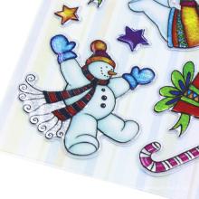 Акварель зима снег человек дом наклейки DIY стикер пакет деко дневник снег высечки винил детские наклейки