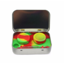 Wax discrete Tin with Silicone Dab Container Jars