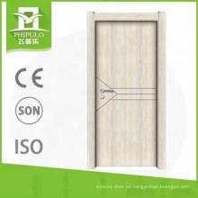 El último diseño de lujo de la puerta de madera de la melamina del precio de la competencia del tipo en venta