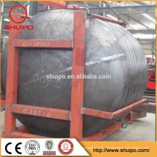 cuve de pression de chaudière utilisée extrémité en acier réservoir bombé